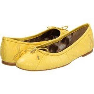 BNIB Sam Edelman Felicia Ballet Flat Citron 6.5